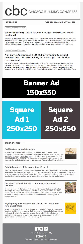 NewsBrief Ad Sizes